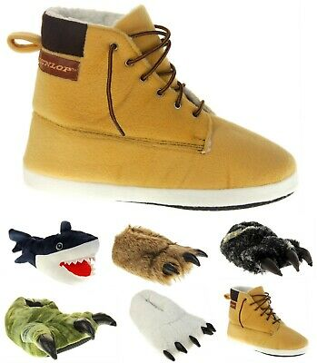 £19.95 • Buy Mens DUNLOP Novelty Claw, Shark, Work Boot Slippers Sizes UK 6-7 8-9 10-11 12-13