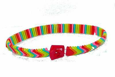 $28.80 • Buy Lot Of 12 Pieces - Kids Plastic Stretch Rainbow Belts