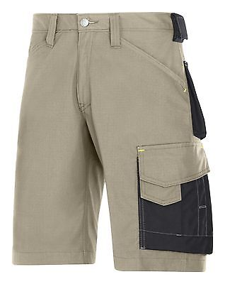AU97.55 • Buy Snickers Workwear 3123 Craftsmen Shorts Rip-Stop SnickersDirect Khaki Pre
