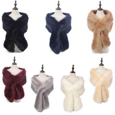 £18.99 • Buy New Ladies Winter Faux Fur Scarf Neck Warmer Wrap Extra Large Collar Shawl Stole