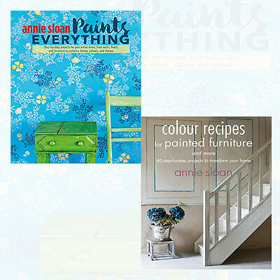 Annie Sloan Collection 2 Books Set NEW Colour Recipes For Painted,Paints Everyth • 14.99£