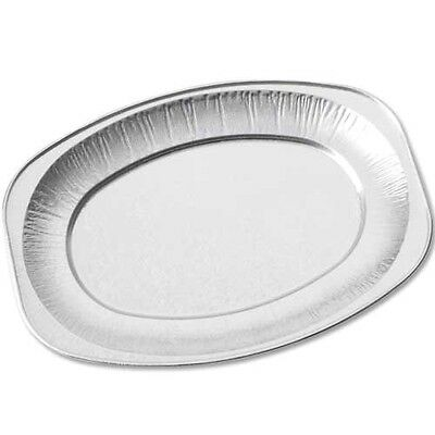 £7.95 • Buy 10 X 14  Silver Foil Platter Food Buffet Embossed Tray Catering Disposable 43cm