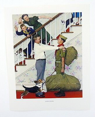 $ CDN20.75 • Buy Vintage 1960's Norman Rockwell Homecoming Boy Scout Print