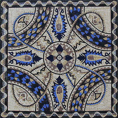 £414.04 • Buy Abstract Royal Blue Pattern Connected Chain Home Decor Marble Mosaic GEO557