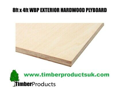 6mm, 9mm, 12mm,18mm - 2440mm X 1220mm(8ft X 4ft)WBP BB/CC Ext Red Faced Plywood • 38.87£