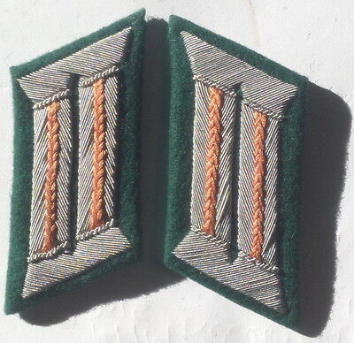 Ww2 German Army Officer Collar Tabs Feldgendarmerie Orange • 10.79£
