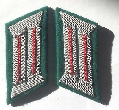 Ww2 German Army Officer Collar Tabs Artillery Red Piped • 10.79£