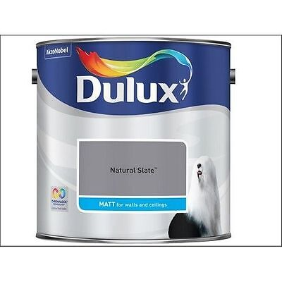 Dulux Smooth Emulsion Matt Paint - Natural Slate - 2.5L - Walls And Ceiling  • 23.45£