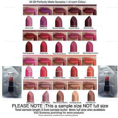 Avon Perfectly Matte Lipstick Samples Pick From 20 Gorgeous Shades ~ Free P&P • 1.45£
