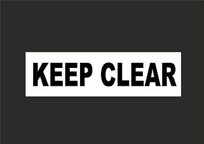 £1.99 • Buy Keep Clear Signs / Stickers - All Sizes & Materials. No Access, No Parking