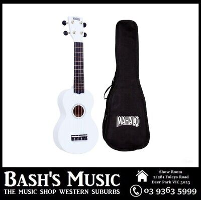 AU34.99 • Buy Mahalo MR1 Soprano Ukulele Beginner Starter With Bag Carry Case - WHITE