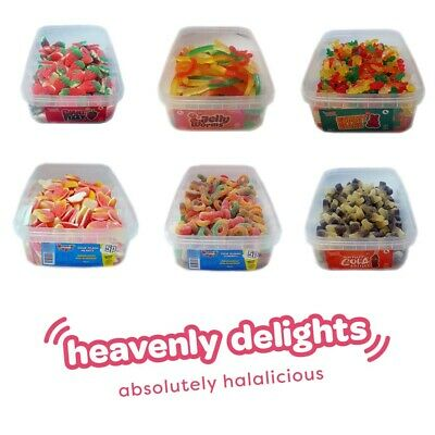 Heavenly Delights | Full Tubs Halal Sweets Candy Fizzy Pencils  | HMC Certified • 6.99£