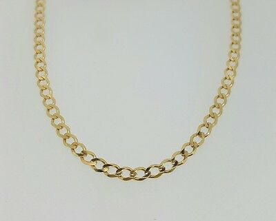 £179.90 • Buy 375 9ct Solid Yellow Gold Curb Link Necklace 16  - 30  - Fully Hallmarked -3.7mm