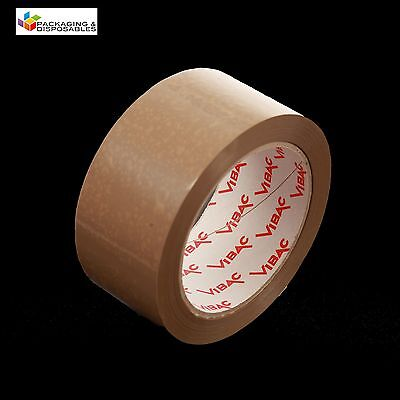£14.99 • Buy 12 X 48mm X 66M BROWN BUFF VIBAC HOT MELT PACKING PARCEL TAPE