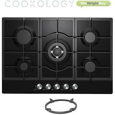 MILLAR GH7051PR 70cm Built-in 5 Burner RED Gas on Glass Hob//Cooker//Cooktop with FFD
