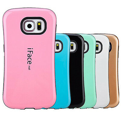 IFace Gel Shock-Absorbing Shockproof Bumper Cover Case Samsung S7/S7 Edge/S8/S8+ • 5.50£