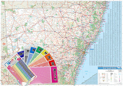 AU149.95 • Buy New South Wales Hema 1430 X 1000mm Supermap Laminated Wall Map With Free Map ...
