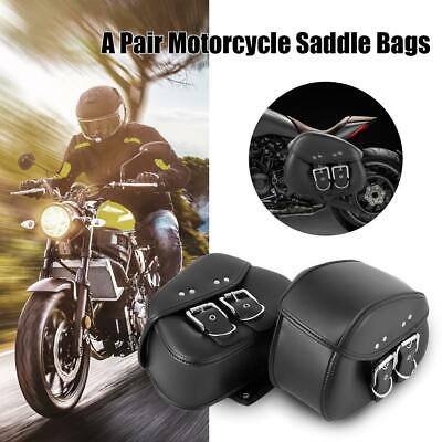 $55.99 • Buy Motorcycle PU Leather Saddle Bag For For Suzuki Boulevard M109R M50 M95 C109