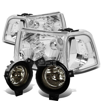 $112.99 • Buy For 01-03 Ford Ranger Chrome Clear Headlight+turn Signal+smoked Oe Fog Light