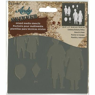 Deco Art Andy Skinner Mixed Media Stencil And Mask Set 6'' X 6'' Children  • 6.39£