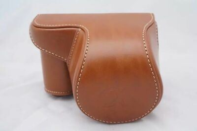 AU22.94 • Buy Leather Camera Case Bag For Sony Alpha A6400 A6300 A6000 W/16-50mm Lens Brown