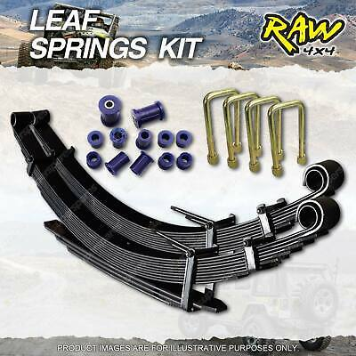 AU578.38 • Buy Raw 4x4 Rear 35mm Lift Heavy Duty Leaf Springs Kit For Mitsubishi Triton ML MN