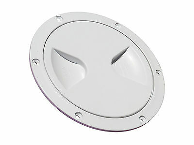 £7.89 • Buy WHITE PLASTIC ACCESS ROUND INSPECTION HATCH 4  (144MM) Boat Motorhome