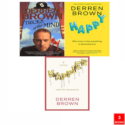 £24.99 • Buy Derren Brown 3 Books Collection Set Happy, Tricks Of The Mind, A Little Happier