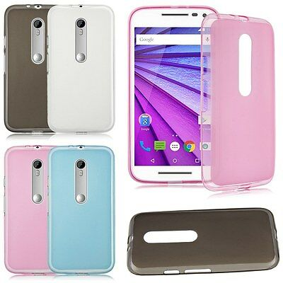 AU3.99 • Buy TPU Gel Silicone Soft Matte Jelly Grip Case Skin Cover For Motorola MOTO Models
