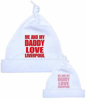 BabyPrem Me Dad Daddy Love LIVERPOOL Baby Cotton Clothes HAT Newborn To 12 M • 3.99£