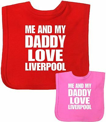 Babyprem Baby Bibs LIVERPOOL VELCRO® Brand Fastening Shower Gifts Clothes • 3.99£