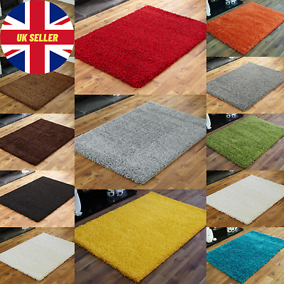 SMALL X LARGE SIZE THICK MODERN RUGS NON SHED SHAGGY RUG Round Runner THICK PILE • 14.39£