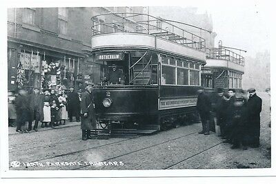 £10 • Buy Yorks Rotherham PARKGATE Tram #2 With Crew Photograph Packer C1950/60s? Print