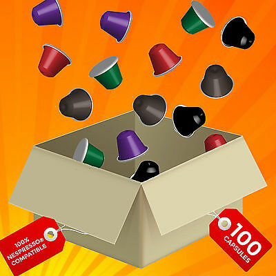AU59.90 • Buy 100 X Nespresso Compatible Coffee Pods Capsules CHOOSE YOUR FAVORITE BLEND