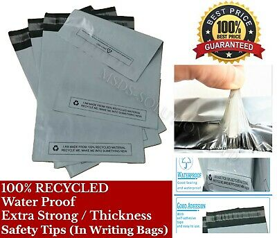 Strong Grey Self Seal Poly Postal Mailing Bags Quality Plastic Postage Mailers • 4.32£