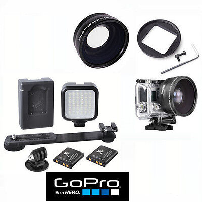 $ CDN63.85 • Buy Hd Wide Angle Lens + 36 Led Light For Gopro Hero4 Black And Silver Edition