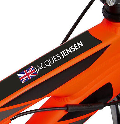 Personalised Named Flag Cycle Frame Cycling Helmet Bike Team Sticker 10mm • 4.05£