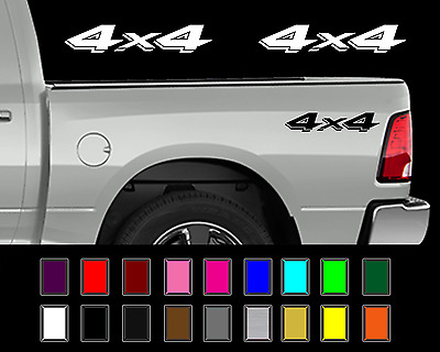 $10.66 • Buy Dodge 4x4 Ram Dakota Truck Bed Decal Set Vinyl Stickers