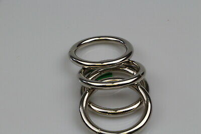 AU24.01 • Buy O Ring  10 X Welded Steel 50mm X 8mm Horse Rugs Dog Collars Leads