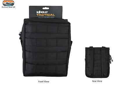 £11.95 • Buy Black MOLLE Large Zipped Army Utility Webbing Pouch RAF Security Airsoft