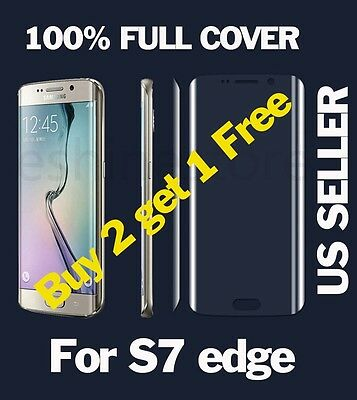 $ CDN1.88 • Buy Curved HD FULL COVER Ultra Thin Screen Protector Film For Samsung Galaxy S7 Edge
