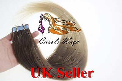 £77.99 • Buy 24  90g 8A* Russian Slavic Remy Double Drawn Tape In Human Hair Extensions UK