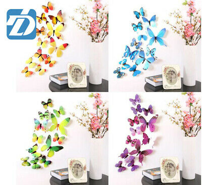 AU4.75 • Buy 3D Butterfly Wall Decals Removable Sticker Kids Art Nursery Decor Magnets 12Pcs