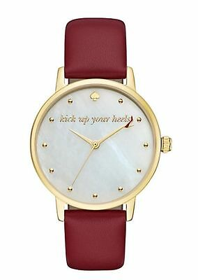 $ CDN78.16 • Buy KATE SPADE Women's Metro Merlot Leather Strap Watch 34mm KSW1209 NEW!