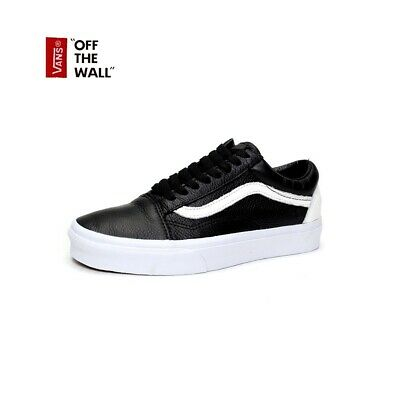 AU84.95 • Buy VANS OLD SKOOL SHOES (LEATHER) BLACK / TRUE WHITE SHOES NEW Old School AUST