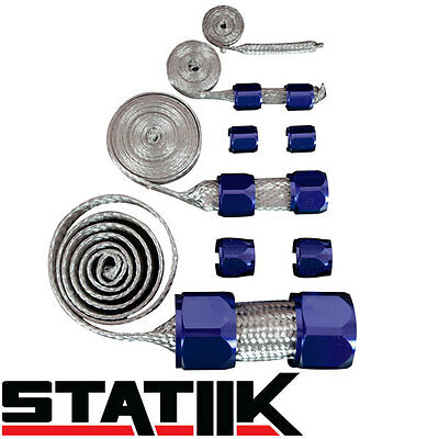 $31.88 • Buy Blue Stainless Steel Engine Hose Dress Up Kit For Radiator/vacuum/fuel/oil S1