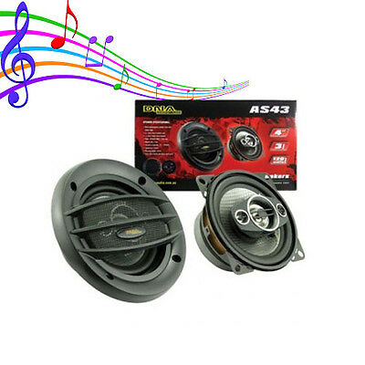 AU42.95 • Buy New AS43 Flush Mount 4 Inch 3 Way Speakers 1 Pair 120 Watts Brand New