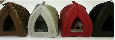 £10.99 • Buy New Comfy Soft Fleece Dog Cat Pet Igloo House Luxury Basket In Large Small Size