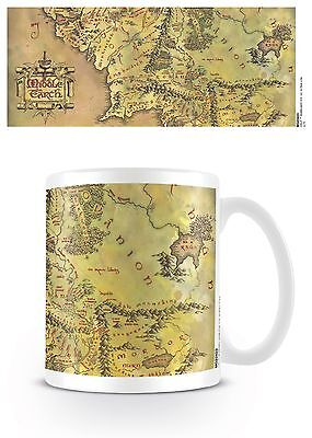 Official The Lord Of The Rings Hobbit Middle Earth Map Mug Novelty Film Gift • 8.95£