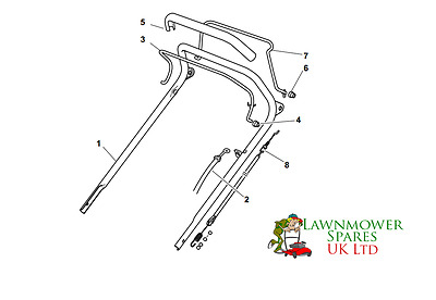 £16.99 • Buy Champion R484tr Sp Petrol Lawnmower Upper Handle Assembly Parts